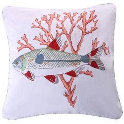 Coastal Atlantis Fish Coral Decorative Pillow