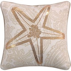Coastal Atlantis Starfish Decorative Pillow