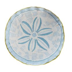 Coastal Cyprus Round Sand Dollar Decorative Pillow