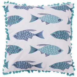 Saltwater Home Avila Beach Fish Decorative Pillow
