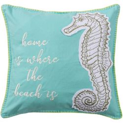 Saltwater Home Bethany Beach Seahorse Decorative Pillow