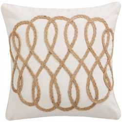 Saltwater Home Capistrano Appliqued Rope Decorative Pillow