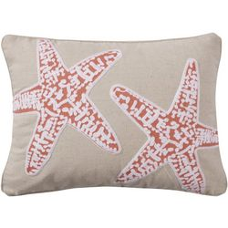 Saltwater Home Lagos Starfish Embroidered Decorative Pillow