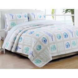 Coastal Design Destin Reversible Quilt Set