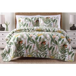 Oceanfront Resort Tropical Jaguar Quilt Set