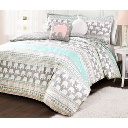 Lush Decor Special Edition Elephant Stripe Comforter Set