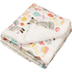 Lush Home Pixie Fox Sherpa Quilted Throw