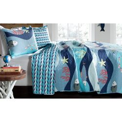 Lush Home Sea Life Quilt Set