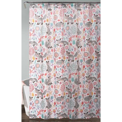 Lush Home Pixie Fox Shower Curtain
