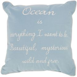 Triangle Home Fashions Ocean Blue Decorative Pillow