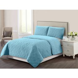 Casual Living Trellis Pinsonic 3-pc. Quilt Set
