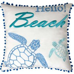 Seaside Resort Hello Beach Decorative Pillow