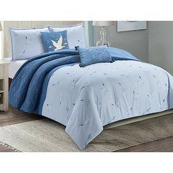 Coastal Home Seagull Shell Comforter Set
