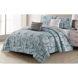 Harper Lane Travel To Paris Quilt Set