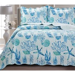 St. Moritz Watercolor Sea Life Quilt Set