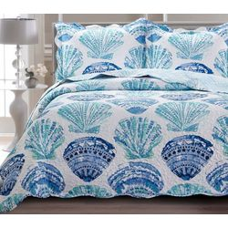St. Moritz Watercolor Shell Quilt Set