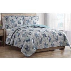 Hampton House Coastal Script Quilt Set
