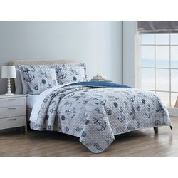 Hampton House Anchors Quilt Set