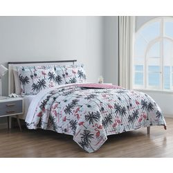 Hampton House Flamingo Dream Quilt Set