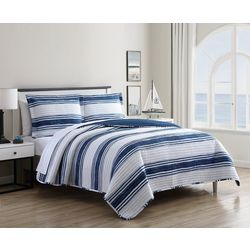 Hampton House Stripe Shore Quilt Set