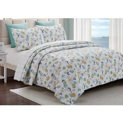 By The Seashore Sea Treasures Quilt Set