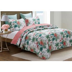 Coastal Home Forest Flamingo Quilt Set