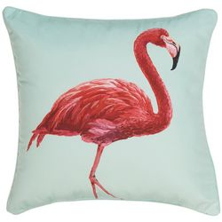 Coastal Home Flamingo Decorative Pillow