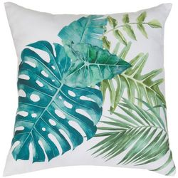 Coastal Home Tropical Palm Leaf Decorative Pillow
