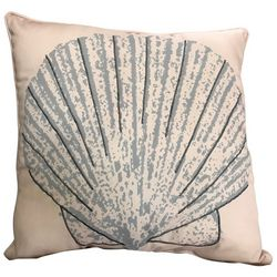 Coastal Home Scallop Shell Decorative Pillow