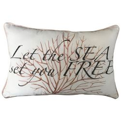 Coastal Home Let The Sea Decorative Pillow