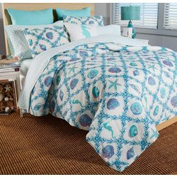 Cosmic Sealife Trellis Quilt Set