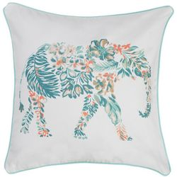 Red Pineapple Ellery Elephant Decorative Pillow