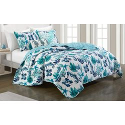 Coastal Home Watercolor Sealife Quilt Set