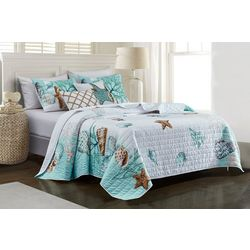 Coastal Home Floating Shells Quilt Set
