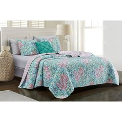 Tackle & Tides Tidal Garden Quilt Set