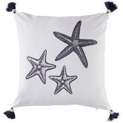 Coastal Home Sailor's Coast Starfish Decorative Pillow