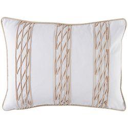 Coastal Home Sailor's Coast Net Stripe Decorative Pillow