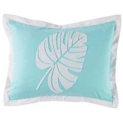 Red Pineapple Palm Leaf Decorative Pillow