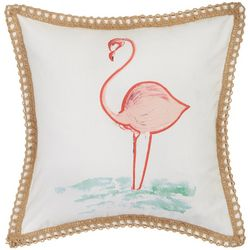 Red Pineapple Watercolor Flamingo Beach Beauty Pillow