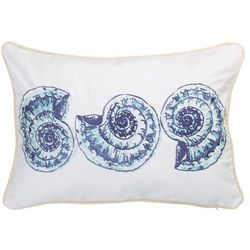 Elise & James Home Sally Shells Nautilus Decorative Pillow