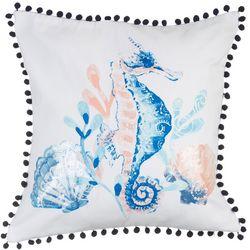 Elise & James Home Seahorse Decorative Pillow