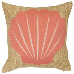 Coastal Home Seashell Icon Decorative Pillow