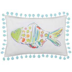Red Pineapple Marlin Fish Rainbow Fish Decorative Pillow