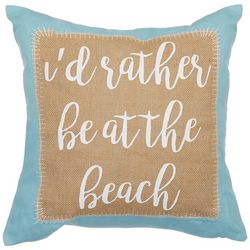 Coastal Home Carissa Seahorse Rather Be Decorative Pillow