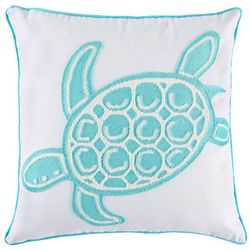 Red Pineapple Sea Turtle Decorative Pillow