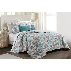 Coastal Home Coral Reef Blue Quilt Set