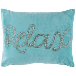 Coastal Home Reef Blues Relax Velvet Decorative Pillow