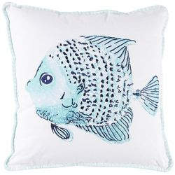 Coastal Home Hellen Fish Print Decorative Pillow