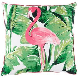 Red Pineapple Nosara Flamingo Decorative Pillow