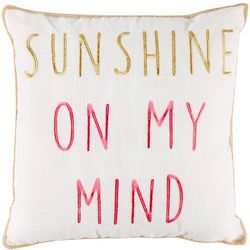 Red Pineapple Nosara Sunshine On My Mind Decorative Pillow